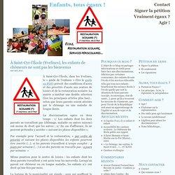 À Saint-Cyr-l'École (Yvelines), les enfants de chômeurs ne sont pas les bienvenus at Enfants, tous égaux !
