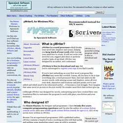 yWriter5 - Free writing software designed by an author, not a salesman