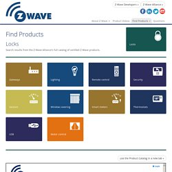 Z-Wave : Find products
