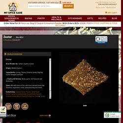 Zaatar - Also Known As Zahtar, Zaatar or Zatar - My Spice Sage