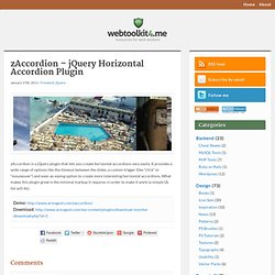 zAccordion – jQuery Horizontal Accordion Plugin