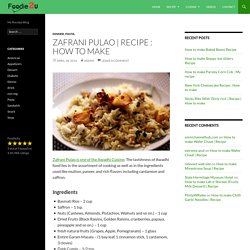 Recipe : How to make