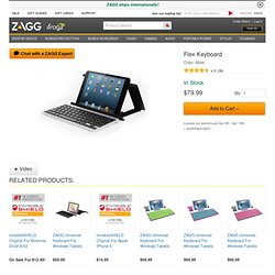 keys FLEX | Wireless Bluetooth Keyboard & Stand for Tablets | ZAGG