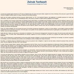 Zaïnab Tanfzawit
