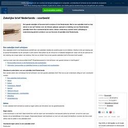 Zakelijke brief Nederlands - voorbeeld