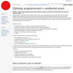 Základy programování v umělecké praxi – CASWiki