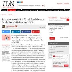 Zalando a réalisé 1,76 milliard d'euros de chiffre d'affaires en 2013