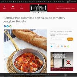 Zamburiñas picantitas con salsa de tomate y jengibre. Receta