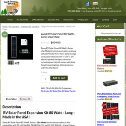 Zamp RV Solar Panel 80 Watt L Series