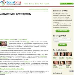 Zanby: Roll your own community | Socialbrite