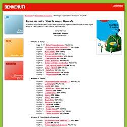 Benvenuti Zanichelli - Materiali per l'insegnante - Geografia