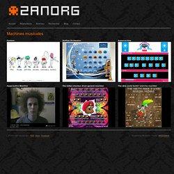 Zanorg / Kek » Machines musicales