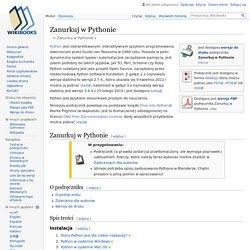 Zanurkuj w Pythonie - Wikibooks, biblioteka wolnych podręczników
