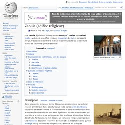 Zaouïa (édifice religieux)