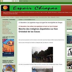 Les zapatistes mayas occupent les municipalités du Chiapas