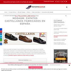 ModaGM: Zapatos castellanos fabricados en España .
