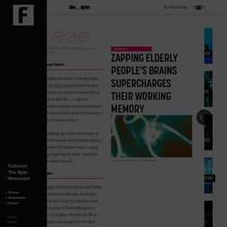 Zapping Elderly People's Brains Supercharges Their Working Memory