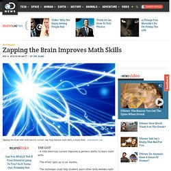 Zapping the Brain Improves Math Skills