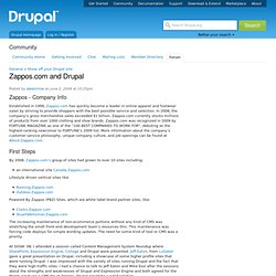 Zappos.com and Drupal