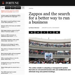 Zappos and the search for a better way to run a business