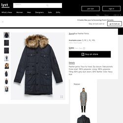 Zara Feather Parka in Blue for Men (Navy blue)
