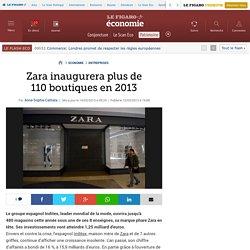 Zara inaugurera plus de 110boutiques en 2013