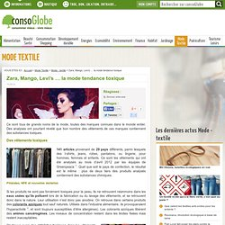 Zara, Mango, Levi's ... la mode tendance toxique