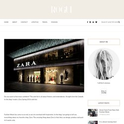 Zara Spring 2016 wish list - The Good Rogue