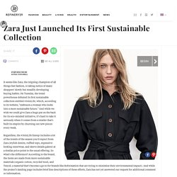 Zara Join Life Sustainable Collection