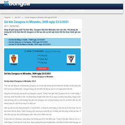 Soi kèo Zaragoza vs Mirandes, 3h00 ngày 23/3/2021