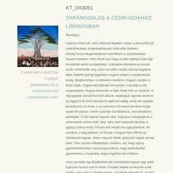 KT_043051- ZARÁNDOKLÁS A CÉDRUSOKHOZ LIBANONBAN
