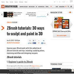 ZBrush tutorials: 20 ways to sculpt and paint in 3D