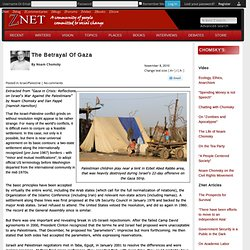 The Betrayal Of Gaza by Noam Chomsky