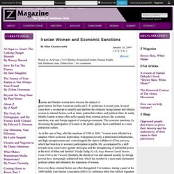 Iranian Women and Economic Sanctions by Mina Khanlarzadeh
