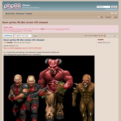 View topic - Doom sprites HD (8x) version v03 released
