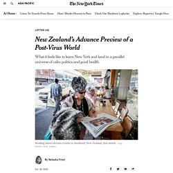 New Zealand's Advance Preview of a Post-Coronavirus World