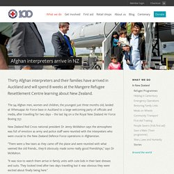 New Zealand Red Cross - Afghan interpreters arrive in NZ