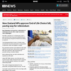 New Zealand MPs approve 'End of Life Choice' bill, paving way for referendum