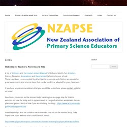 nZAPSe: New Zealand Association of Primary Science Educators!!