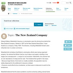 Topic: The New Zealand Company