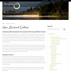 New Zealand Culture and Maori Customs - Acrossnz