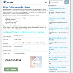 Air New Zealand customer Care Number