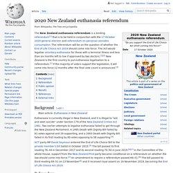 2020 New Zealand euthanasia referendum