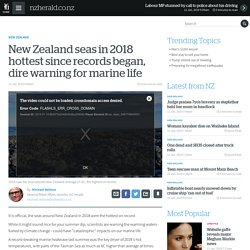 NZ Seas in 2018 Hottest on Record
