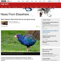 New Zealand: Rare birds shot as cull goes wrong