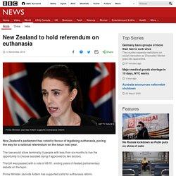 New Zealand to hold referendum on euthanasia