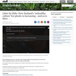 Litter by little: New Zealand's 'unhealthy culture' for plastic is increasing - and so is litter