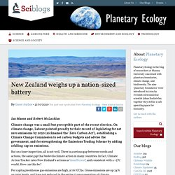 New Zealand weighs up a nation-sized battery