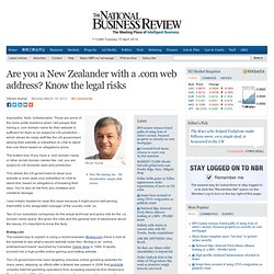 Have a .com web address? Know the legal risks