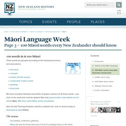 100 Māori words every New Zealander should know - Māori Language Week